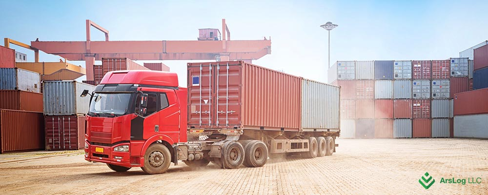 Наземная доставка контейнеров